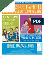 April 2, 2013 - St Paul School Selection Guide