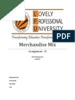 Merchandise Mix of Showoff