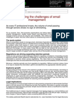 Addressing the Challenge of Email Management