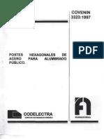 postes hexagonales COVENIN