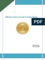 RBI Intervention in Foreign Exchange Market