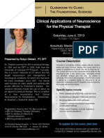 Clinical Applications of Neuroscience for the Physical Therapist | Flier