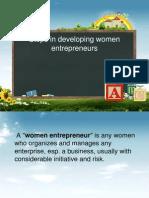 Steps in Developing Women Entrepreneurs