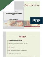 Politica Macroeconomica 2013-Zahler
