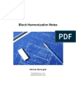 Block Harmonization Notes