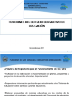 FUNCIONES DEL CONSEJO CONSULTIVO EDUCATIVO2012.ppt