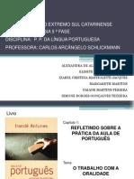 Língua Portuguesa - Slide oralidade