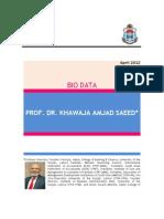 Prof. Dr. Khawaja Amjad Saeed_profile and Photo