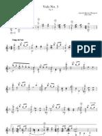 Partitura Guitarra - Agustin Barrios Mangore - Vals n 3