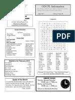 Adult Newsletter April 2013