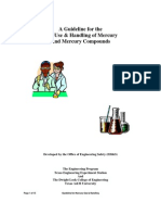 Guideline for Safe Use & Handling of Mercury & Mercury Compounds