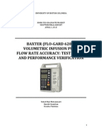 Baxter (Flo-Gard 6201) Volumetric Infusion Pump Flow Rate Accuracy - Test Design and Performance Verification