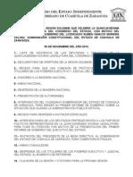 Documentos Registrados para la Sesión del día 30 de noviembre de 2012
