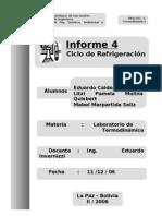 informe 4 refrigeracion
