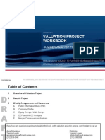 A9R68C4VALUATION PROJECT WORKBOOK