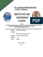 Sistema de Informacion Para El Control de Caja Del Isc