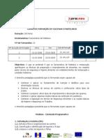 CURSO DE FORMAÇÃO EM COZINHA E PASTELARIA