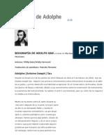 Biografía de Adolphe Sax