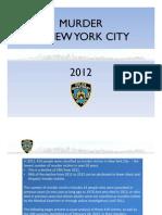 Murder in New York City 2012