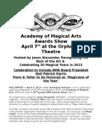 45th Annual AMA Magic Awards