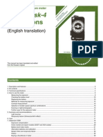 Sverdlovsk 4 Light Meter Manual (English translation)