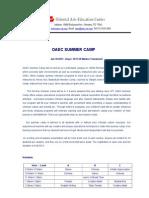 OAEC 2013 Summer Camp_English
