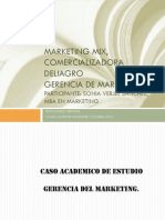 Marketing Mix, Caso de Estudio. Sonia Verjel.
