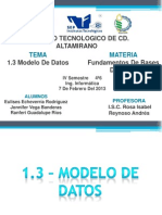 1.3 Modelo de Datos