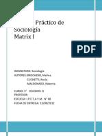Trabajo Práctico de  Sociología                             Matrix I