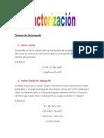 Técnicas de Factorización (Reparado)