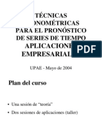 Tecnicas Econometricas - Series de Tiempo
