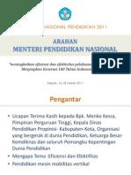 Paparan Mendiknas Rembuk Nasional 2011 (Final)