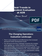 Latest Trends in Independent Evaluation at ADB