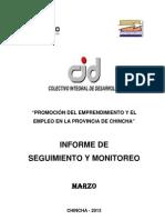 Informe de Seguimiento y Monitoreo Marzo