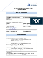 Jeff Thompson Research Application