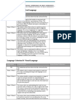 PYP Language Rubric Draft