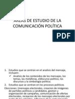 ÁREAS DE ESTUDIO DE LA COMUNICACIÓN POLÍTICA