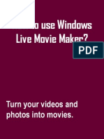 How to Use Windows Live Movie Maker, a sample tutorial