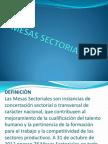 Mesas Sectoriales