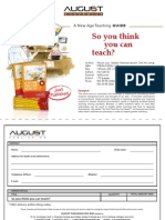 Order Form (So You Think You Can Teach)