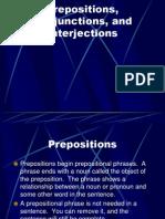 Prep Conjuntion Interjection