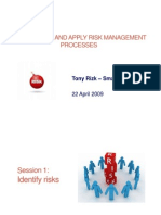 Risk Management, Managing Risk