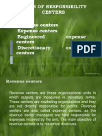 9. Responsibility Centers