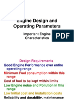 Engine Design and Operating Parameters