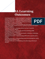 sda student learning outcomes 2012