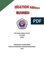 CONVERSATION ABOUT BUSINESS