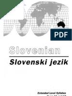 Slovenian-Slovenski Jezik VCE Syllabus 92