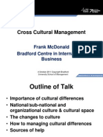 Cross Cultural Management Frank McDonald