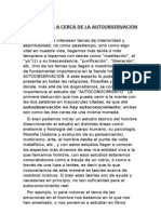 REFLEXIONES A CERCA DE LA AUTOOBSERVACIÓN