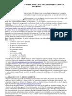 Consideraciones Sobre Ecologia en La Construccion en Ecuador